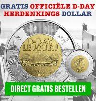 Gratis Officiële D-Day Herdenkingsdollar