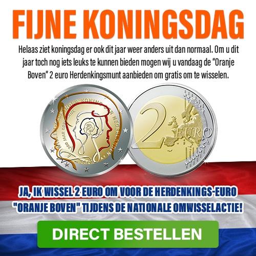 Gratis € 2 munt van Oranje Boven ontvangen