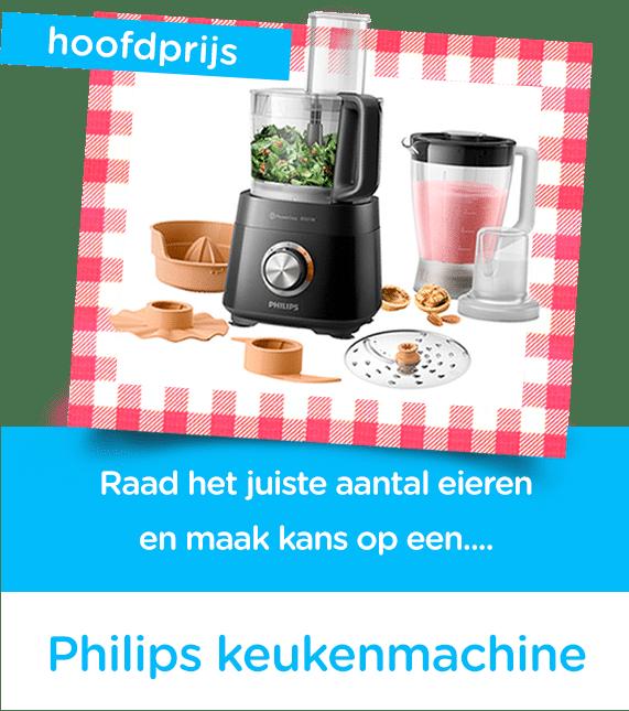 Tel de eieren en win Philips Keukenmachine