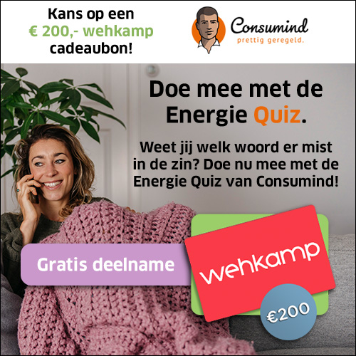 Doe EnergieQuiz en win cadeaubon t.w.v. € 200.-