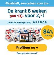 Voor 2 euro 6 weken een Gratis Krant lezen