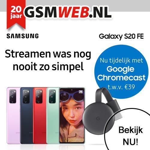 Gratis Google Chromecast bij GSMWeb abonnement