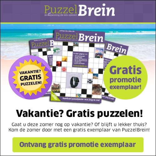 Gratis exemplaar van PuzzelBrein t.w.v. € 11.60