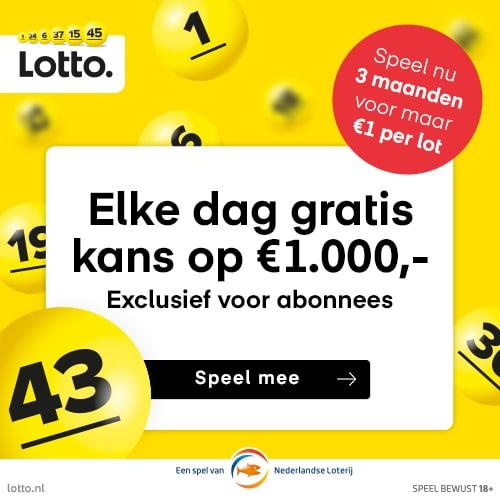 Lotto Gelukspakket met direct kans op € 1000.-