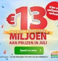 Postcode loterij uitslagen met Gratis maand of € 15.-