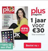 Plus Magazine aanbieding met kans op en Gratis iPad