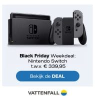 Black Friday Vattenfall actie met gratis Nintendo Switch