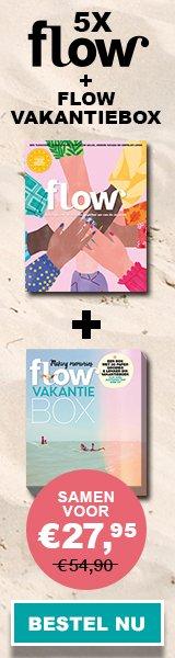 Flow magazine met gratis Flow Vakantiebox 2020