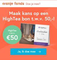 Win Gratis HighTea bon bij het Oranje Fonds