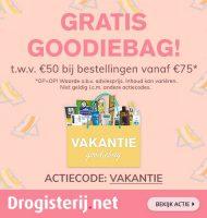 Gratis Goodiebags t.w.v. 50 euro bij Drogisterij.net