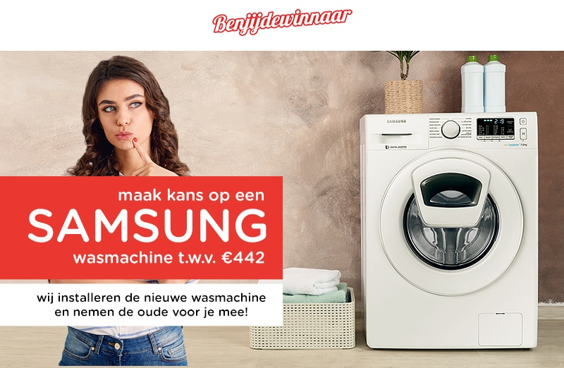 Test de nieuwe Samsung wasmachine. Doe gratis mee!