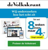 Gratis Volkskrant 8 weken lezen en betaal € 4.- bezorgingskosten