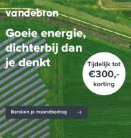 Bij Vandebron € 300,- korting op Groene energie