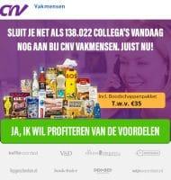 Gratis XXL Boodschappenpakket bij CNV inschrijving