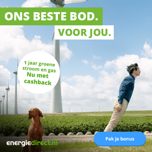 Goedkoopste energie en 60 euro cashback bij energiedirect