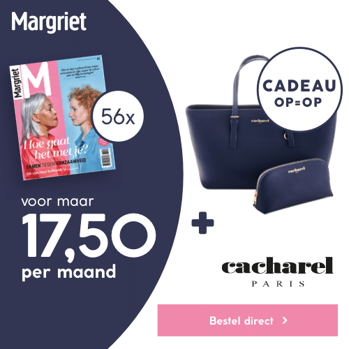 Margriet magazine met Gratis donkerblauwe Cacharel-set