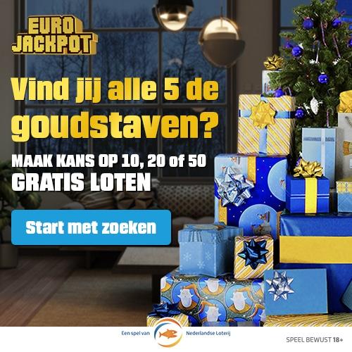 Zoek 5 goudstaven bij Eurojackpot en Win
