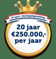 Win 20 jaar lang € 250.000 p.j. in de Staatsloterij