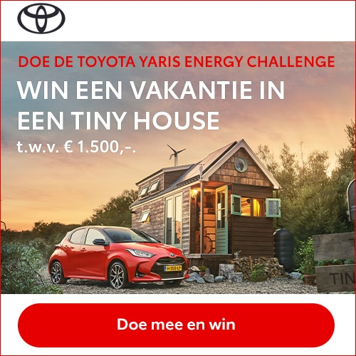 Doe de YARIS Energy Challenge & Win Tiny House t.w.v. € 1.500,-