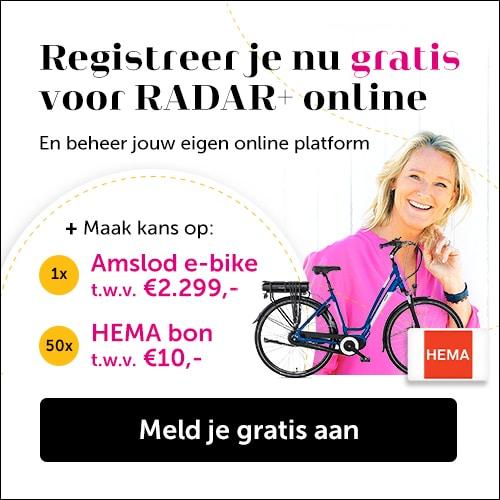 Bij Radar+ Online Gratis kans op e-Bike t.w.v. € 2299.-