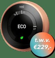 Speel 3 op een Rij met kans op Google Nest Learning Thermostat