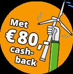 Goedkoopste energie en 80 euro cashback bij energiedirect