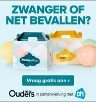 Gratis zwanger box en baby box t.w.v. € 65.-