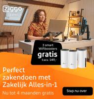Gratis 4 m.d. + Wifiboosters + Google home bij Ziggo Zakelijk