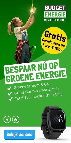 Gratis Garmin Venu SQ t.w.v. €199 bij Budget energie