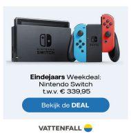 Vattenfall actie met gratis Nintendo Switch t.w.v. € 339.95