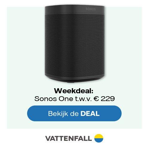 Nuon Vattenfall deal met Sonos One slimme luidspreker t.w.v. € 229
