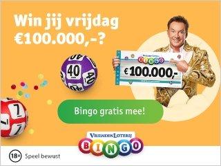 Gratis 5 Bingokaarten Vriendenloterij Bingo