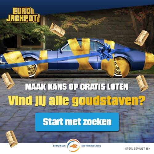 Zoek de 5 goudstaven bij Eurojackpot en Win