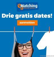 Bij e-Matching Gratis inschrijven + 3 Gratis dates