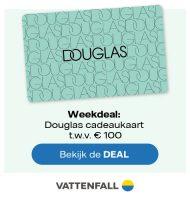 Vattenfall actie met gratis Douglas Cadeaubon t.w.v. € 100,-