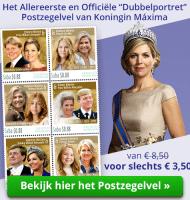 Postzegelvel koningin Máxima van € 8,50voor slechts € 3,50