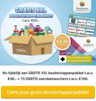 Gratis Boodschappenpakket t.w.v. 30 euro
