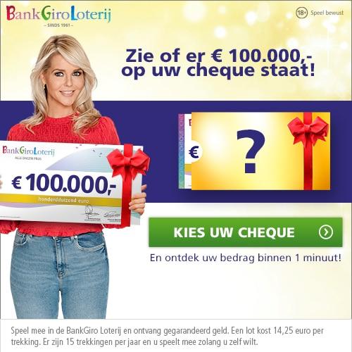 Bankgiro loterij Cashdagen | Gratis kans op € 10.000,-