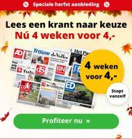 Voor 4 euro 4 weken een Gratis Krant lezen