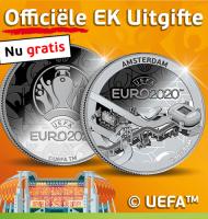 Bestel uw gratis officiële EK Uitgifte Munt