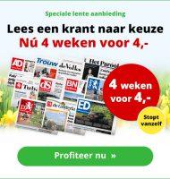 Nu 4 weken gratis de krant lezen!
