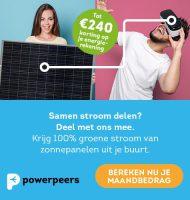 Powerpeers energie met € 240,- korting! Stap gratis over