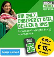 Budget Mobiel nu onbeperkt voor € 15.- p.m.