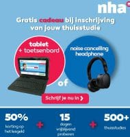 NHA studie met Gratis Tablet + headphone