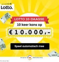 Lotto Gelukspakket 10x gratis kans op € 10000.-