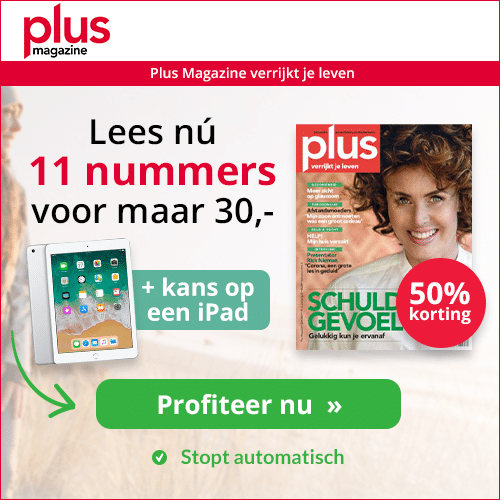 Plus magazine 1 jaar voor € 30.- met kans op iPad