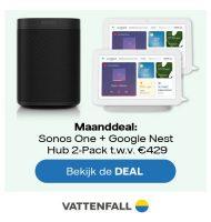 Bij Vattenfall stroom maanddeal een Gratis cadeau