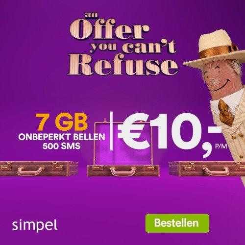 Simpel Sim Only altijd voor de laagste prijs