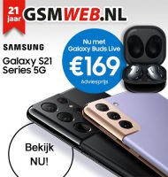 GSMWEB geeft Gratis Galaxy Buds Live (oortjes) weg