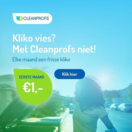 Kliko reinigen 1e maand voor slechts € 1,-
